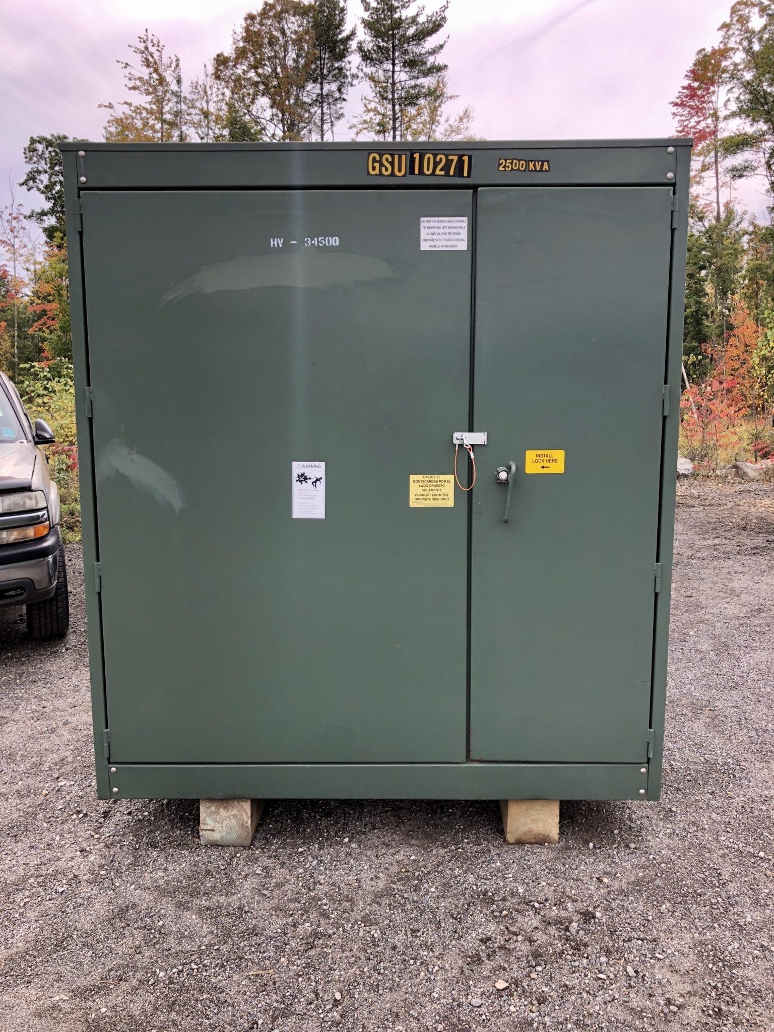 2500 KVA Transformer Rental - 34.5 KV /19.9KV 1